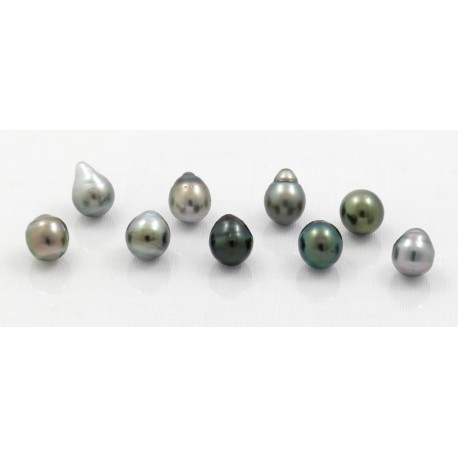 set of 9 semi baroque pearls