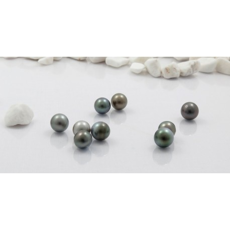 Lot de 9 perles rondes, 9mm, C