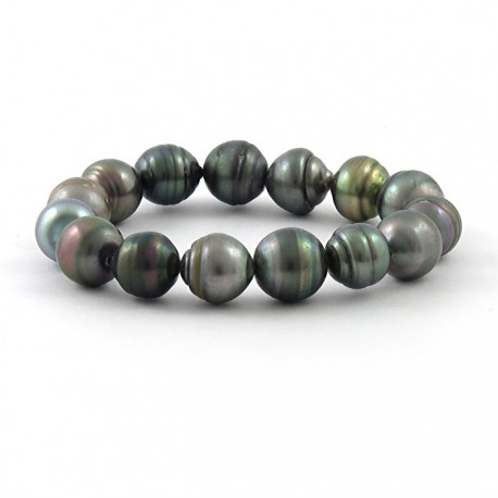 Bracelet  15 pearls of Tahiti