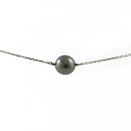 collier chaine 1 perle