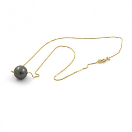 Adjustable necklace with Pearl of 12.5mm