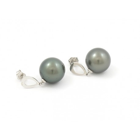 White gold earrings with 2R12.5mmB